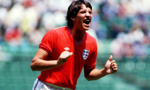 Gary Lineker playing for England