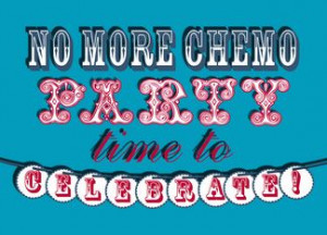 No More Chemo Party Invitation Decorative Font Typography card