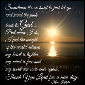 Thank You Lord For A New Day..