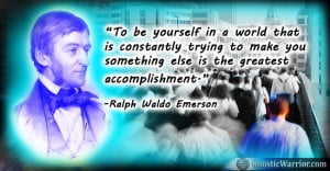 Ralph Emerson Quote To be yourself