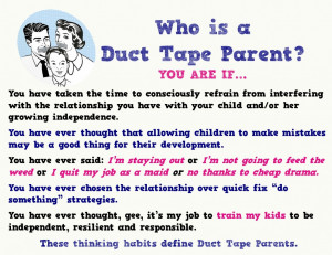 Tape Parent? Hooray! Be sure to follow all the Duct Tape Parenting ...