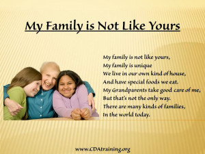 ... families, Please feel free to edit the poem to suit your students