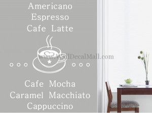 Coffee Time Quote Wall Decals