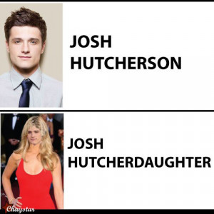 celeb name pun josh hutcherson Ridiculous Celebrity Name Puns (25 pics ...