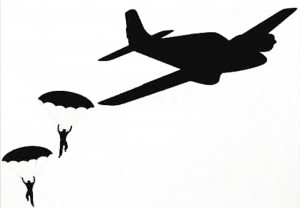 Wall Sticker Decal Quote Vinyl Parachute Guys Army Plane Boys Room ...