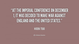 At the Imperial Conference on December 1, it was decided to make war ...