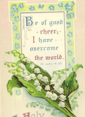 Lily of the Valley and Bible Quote on Vintage Easter Postcard - Be of ...
