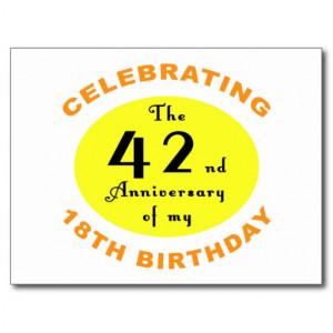60th Birthday Gag Gift Postcard