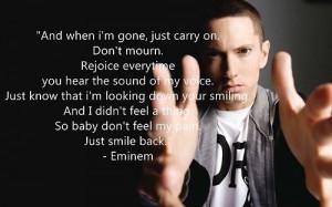 Eminem inspirational quote.