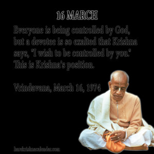 ... quotes of Srila Prabhupada, which he spock in the month of March
