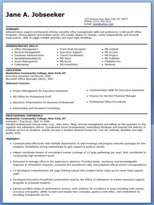 sample administrative assistant resume examples