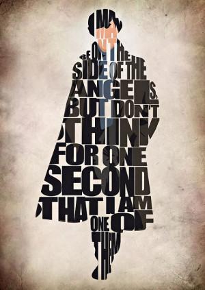 Sherlock Poster - Benedict Cumberbatch Typography Print