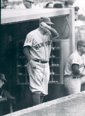 Casey Stengel Gives Encouragement © Niels Lauritzen