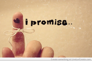 ... heart tie love promise finger, i promise, love, pretty, quote, quotes