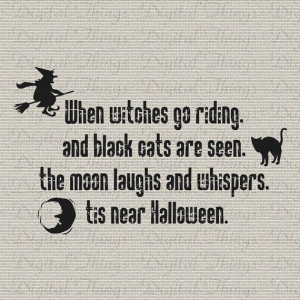 Halloween Witch Black Cat Quote Typography by DigitalThings, $1.00