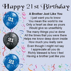 Big 21st Birthday Quotes For Brothers Quotesgram