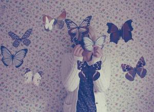 butterflies girl photography vintage wallpaper Favim.com 280025 large ...