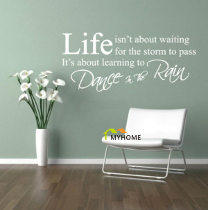 Art-Wall-Decals-Quotes-Dance-in-the-Rain-Removable-Wall-Stickers-for ...