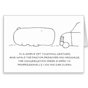 funny_hippo_pastor_appreciation_greeting_card ...