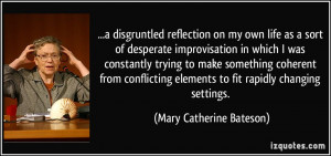 disgruntled reflection on my own life as a sort of desperate ...