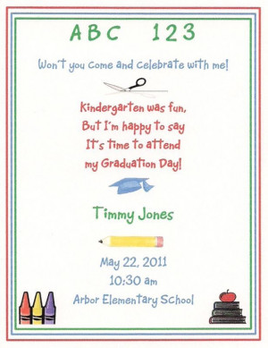 10 Preschool Kindergarten Graduation Invitations Custom