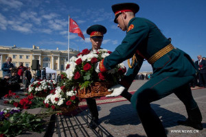 ... Chair Valentina Matviyenko also participates in the ceremony.(Xinhua