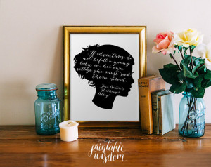 Jane Austen quote art wall art printable wall decor print ...