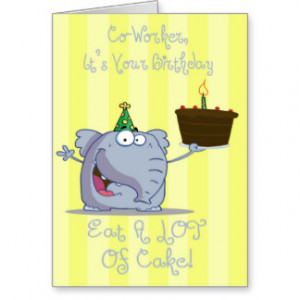 Funny Birthday For Coworker Cards & More