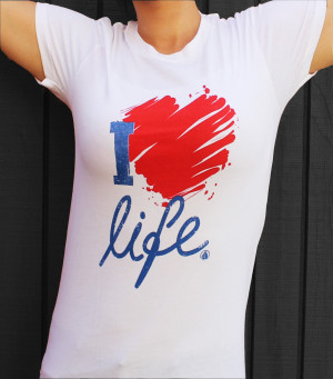 Home > Products > I Love Life Graphic Tee | Women's Shirts