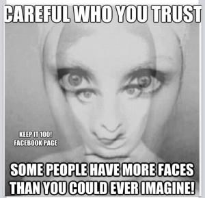 Don't trust anyone!