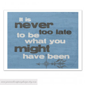 NEVER too LATE, Inspirational Quote Art Print, George Eliot, Featured ...
