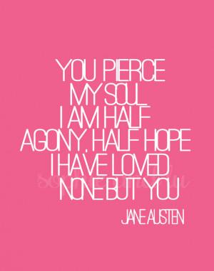 Persuasion Jane Austen quote Printable PDF Poster