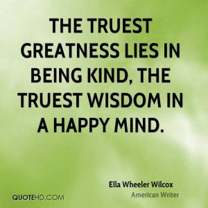 Ella Wheeler Wilcox Wisdom Quotes