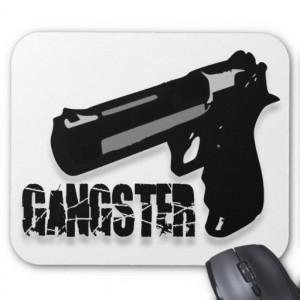 Gangsters Gun Mouse Pad