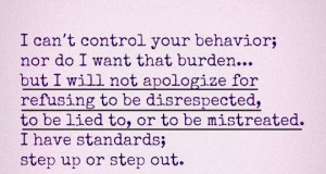 won't apologize for not being disrespected
