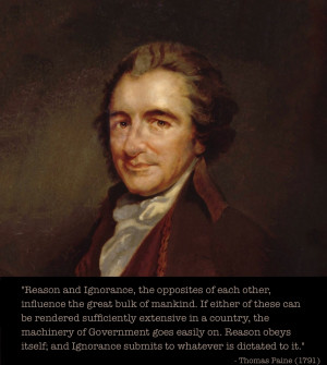 An introduction to the life of thomas paine
