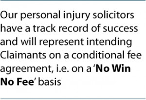 Our personal injury solicitors have a track record of success and will ...