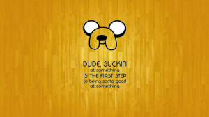 Time with Finn and Jake Wallpaper Cartoon Mashup Wood Floor Quote ...
