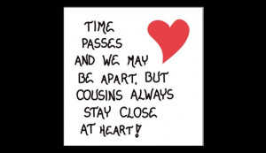 Cousin Quote, close relatives, best friends, Refrigerator Magnet, red ...
