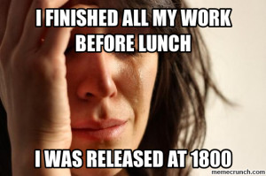 Generate a meme using First World Problems
