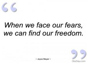 when we face our fears joyce meyer