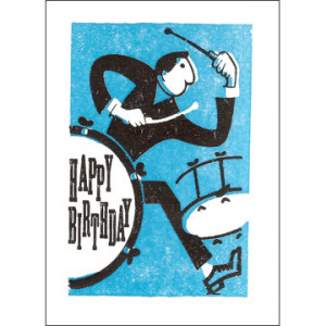 Happy Birthday Drummer Card