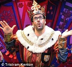 Marcus Brigstocke performing at the Harold Pinter Theatre