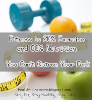... 80% Nutrition. You Can't Outrun Your Fork #quote #fitnessmotivation