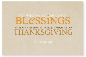 ... to have a thankful heart every day. What are you thankful for