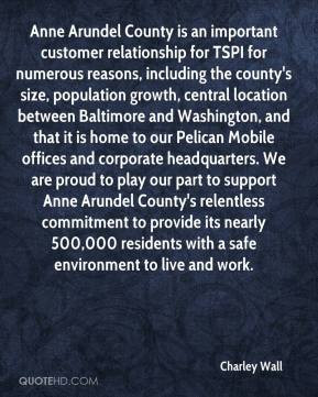 for numerous reasons, including the county's size, population growth ...