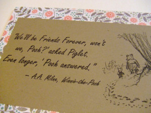 ... Pooh Quotes Love Forever ~ Winnie The Pooh And Piglet Friendship
