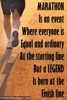Marathon is an event where everyone is equal and ordinary at the ...