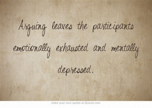... leaves the participants emotionally exhausted and mentally depressed