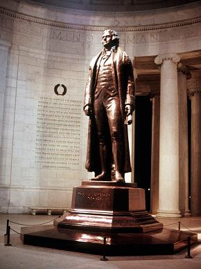 Below are quotations shown on the Jefferson Memorial in Washington, D ...